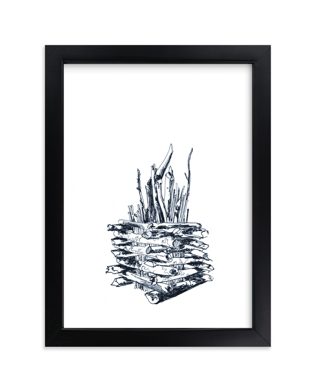 """""""Bonfire-to-be"""" - Art Print by Alaine Ball in beautiful frame options and a variety of sizes."""