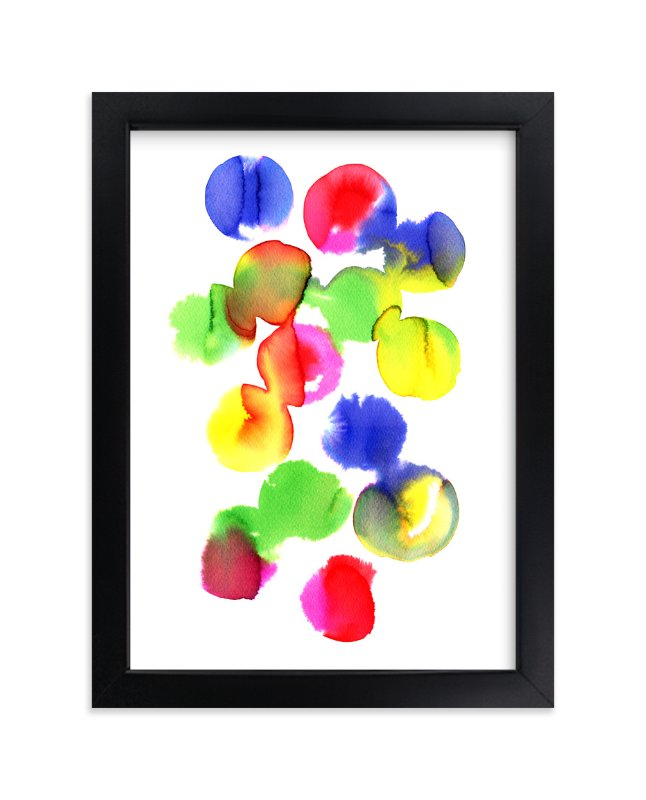 """Abstract watercolor study 2"" - Art Print by Alexandra Dzh in beautiful frame options and a variety of sizes."