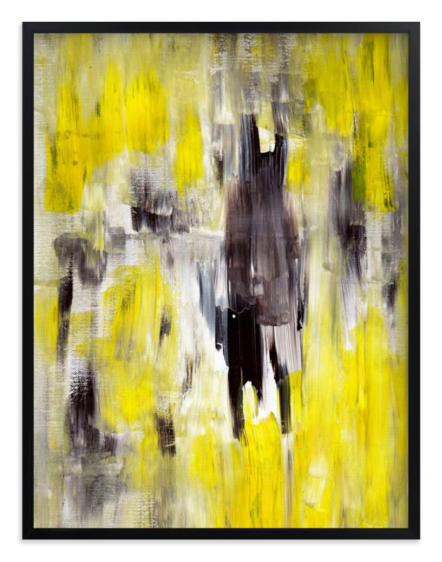 """""""Lemon Burst"""" - Art Print by Ilana Greenberg in beautiful frame options and a variety of sizes."""