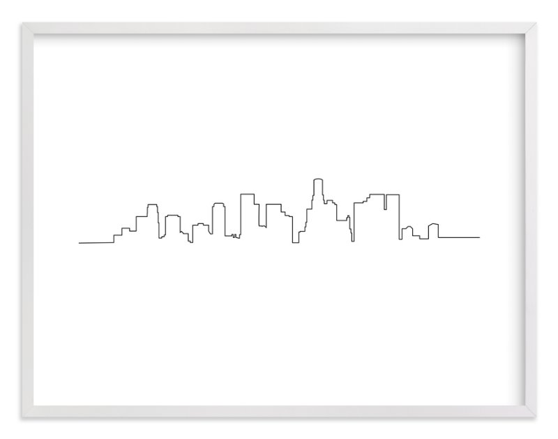 """Los Angeles"" - Art Print by Erin Deegan in beautiful frame options and a variety of sizes."