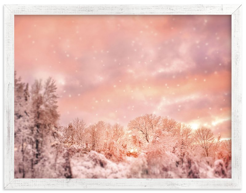 """Snowscape 1"" - Art Print by Smile Peace Love in beautiful frame options and a variety of sizes."