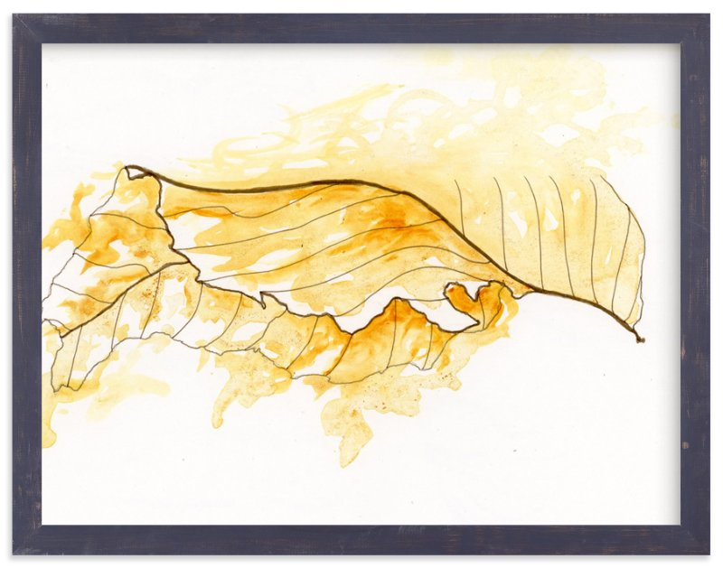 """""""Gold Leaf"""" - Art Print by Emily Magone in beautiful frame options and a variety of sizes."""