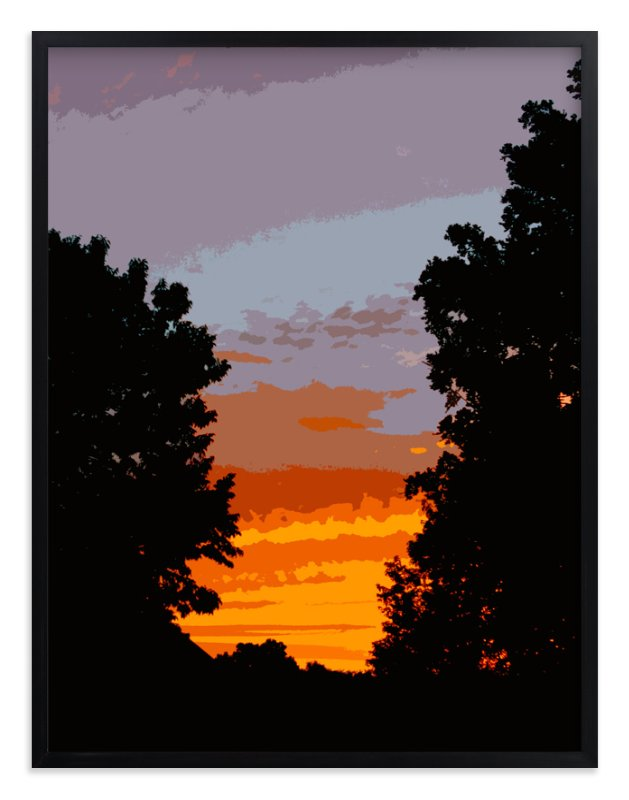 """""""Driveway Sunset"""" - Art Print by Jeff Preuss in beautiful frame options and a variety of sizes."""