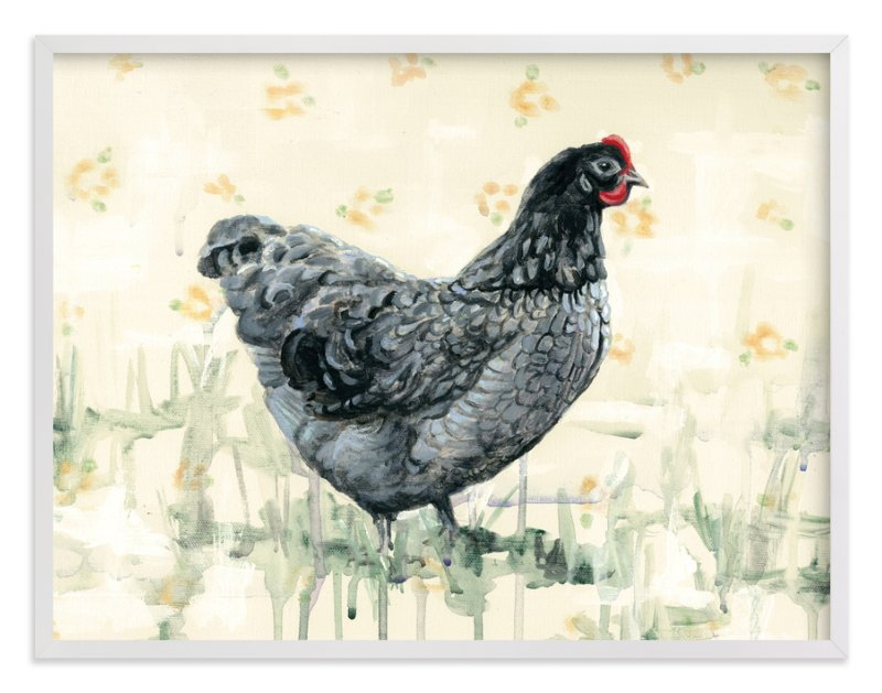 """Clementine Greyfeather"" - Art Print by Rebecca Weller in beautiful frame options and a variety of sizes."