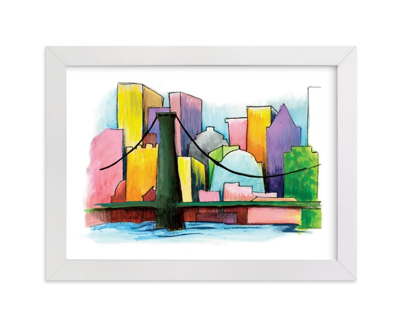 """""""View From The Harbor"""" - Art Print by Lisa Travis in beautiful frame options and a variety of sizes."""