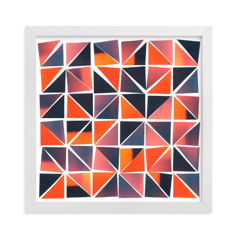 """""""Sunset Mosaic"""" - Art Print by Josh McClendon in beautiful frame options and a variety of sizes."""