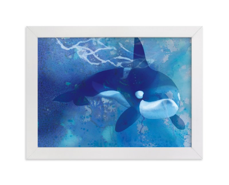 """Orca"" - Art Print by Tracy Ann in beautiful frame options and a variety of sizes."