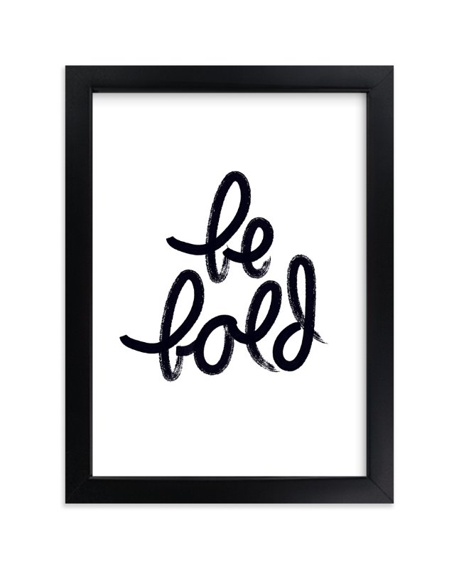 """""""Bold Words"""" - Art Print by Sandra Picco Design in beautiful frame options and a variety of sizes."""
