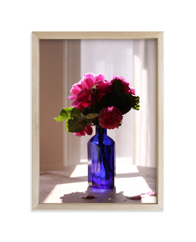 """Blue Vase Still Life Photograph"" - Art Print by Becky Nimoy in beautiful frame options and a variety of sizes."