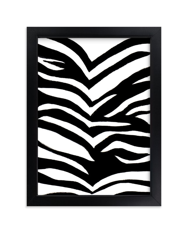 """Zebra Stripes"" - Art Print by Ilana Greenberg in beautiful frame options and a variety of sizes."
