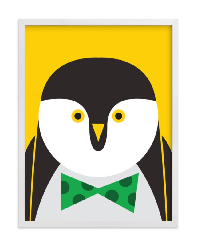 """""""Mr. Penguin Sir"""" - Art Print by Mayel in beautiful frame options and a variety of sizes."""