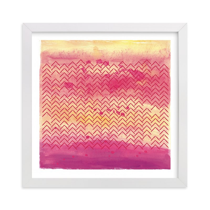 """""""Village Sunset"""" - Art Print by Kate Ross in beautiful frame options and a variety of sizes."""