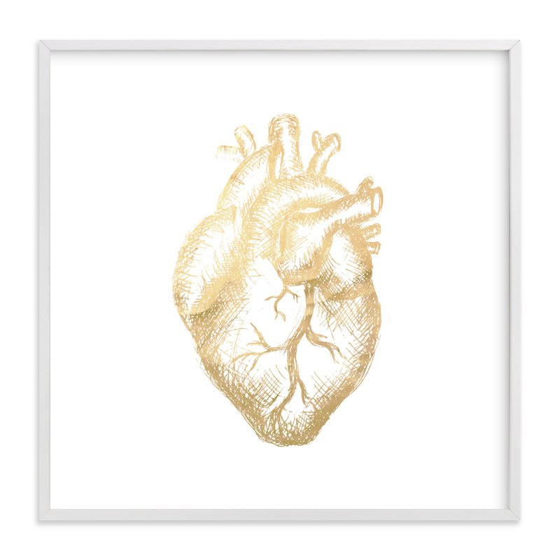 """Heart of Gold."" - Art Print by hey paper moon in beautiful frame options and a variety of sizes."