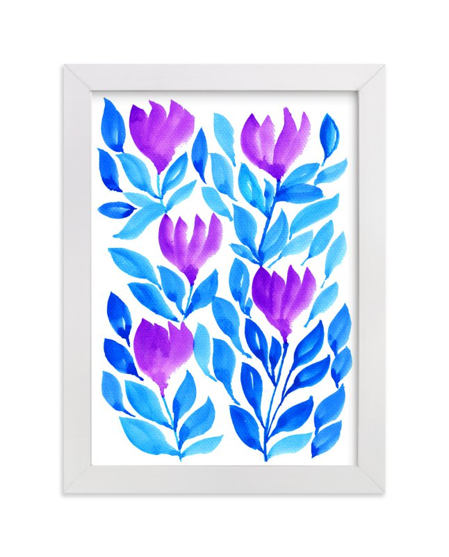 """""""hand painted flowers_2L"""" - Art Print by aticnomar in beautiful frame options and a variety of sizes."""