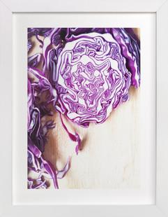 Cabbage Landscape  Art Print