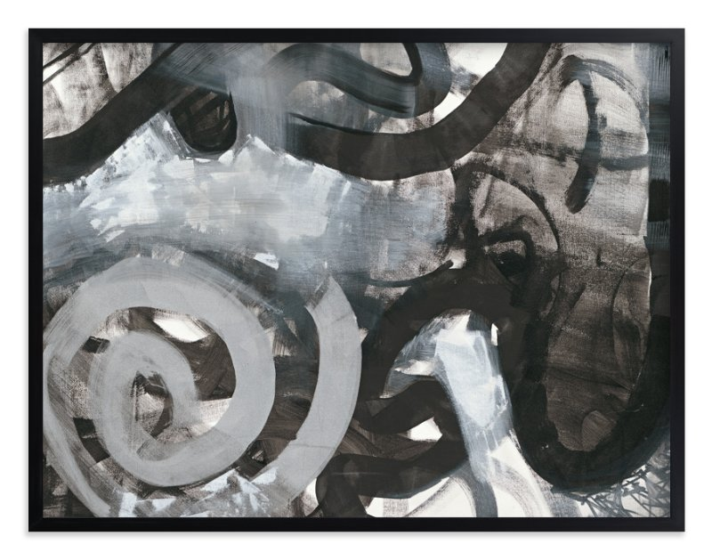 """Black and White Vapor Series 4"" - Art Print by Angela Simeone in beautiful frame options and a variety of sizes."