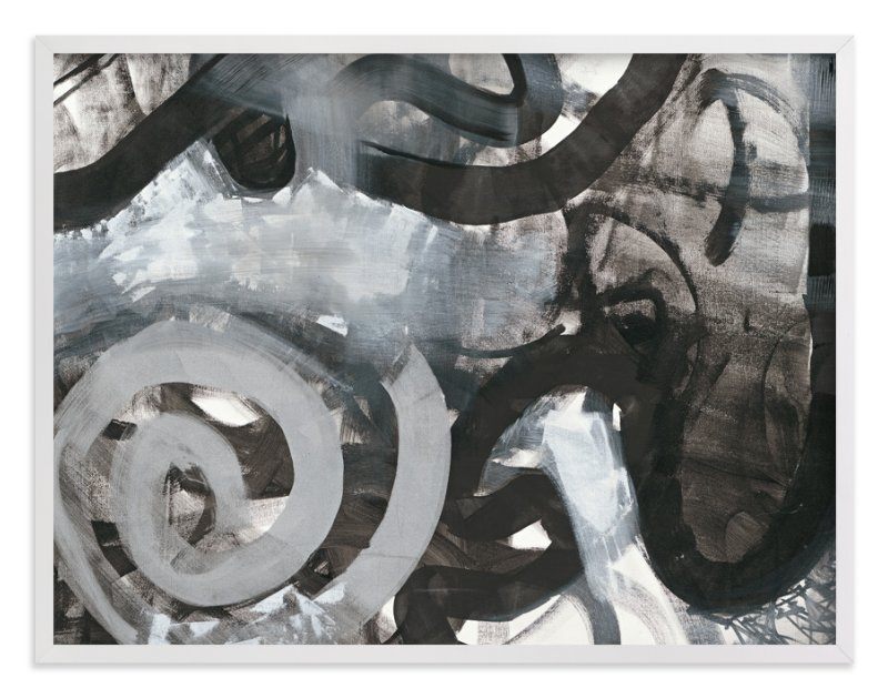 """""""Black and White Vapor Series 4"""" - Art Print by Angela Simeone in beautiful frame options and a variety of sizes."""