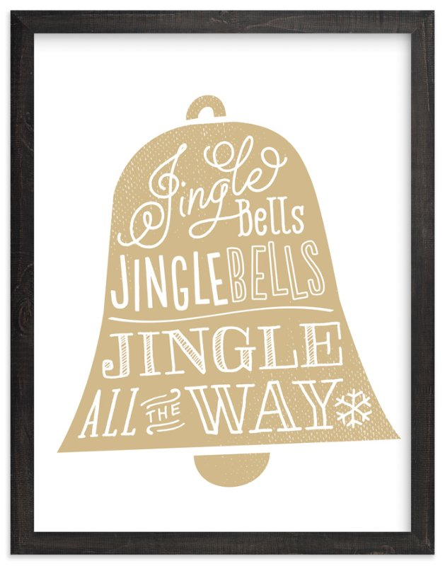 """""""Jingle Bells"""" - Art Print by Jessie Steury in beautiful frame options and a variety of sizes."""