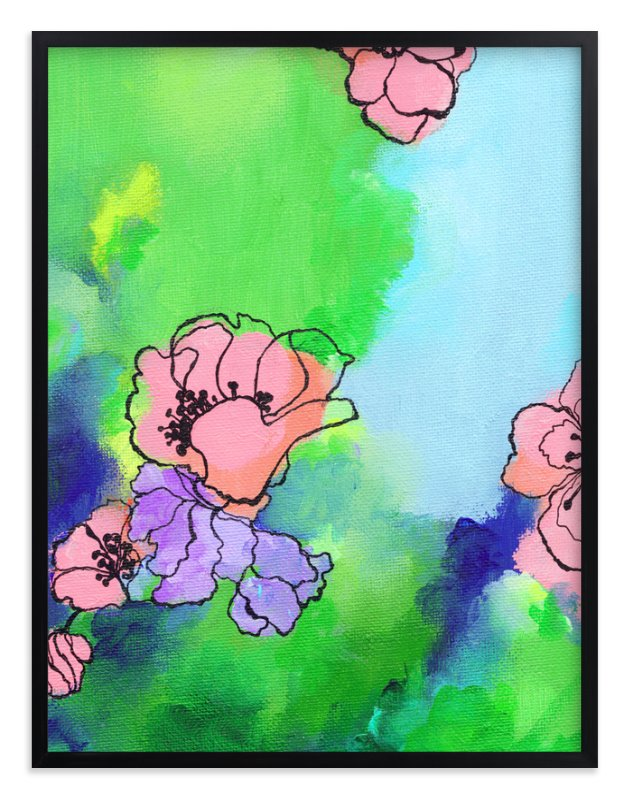 """""""Garden Stroll"""" - Art Print by Sonal Nathwani in beautiful frame options and a variety of sizes."""