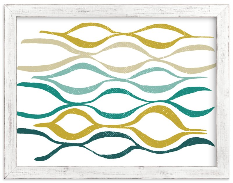 """""""Catch the Wave"""" - Art Print by Stacy Kron in beautiful frame options and a variety of sizes."""