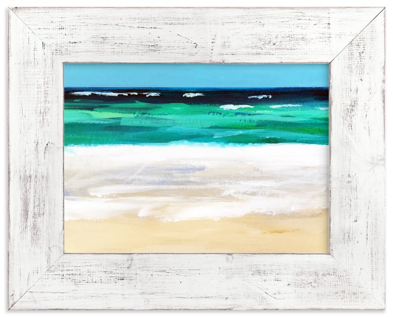 """Coastal Walk"" - Art Print by Jenny Partrite in beautiful frame options and a variety of sizes."