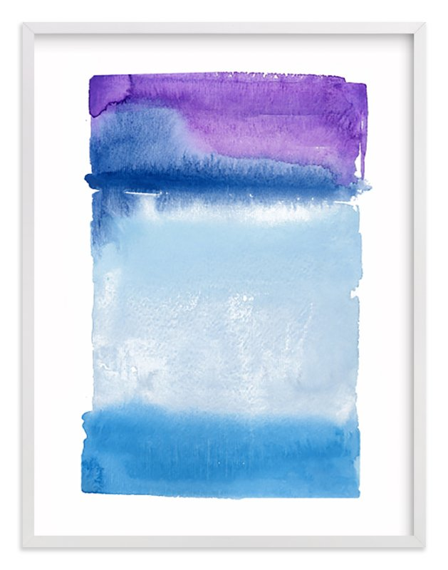 """Violet Horizon"" - Art Print by Chelsey Scott in beautiful frame options and a variety of sizes."