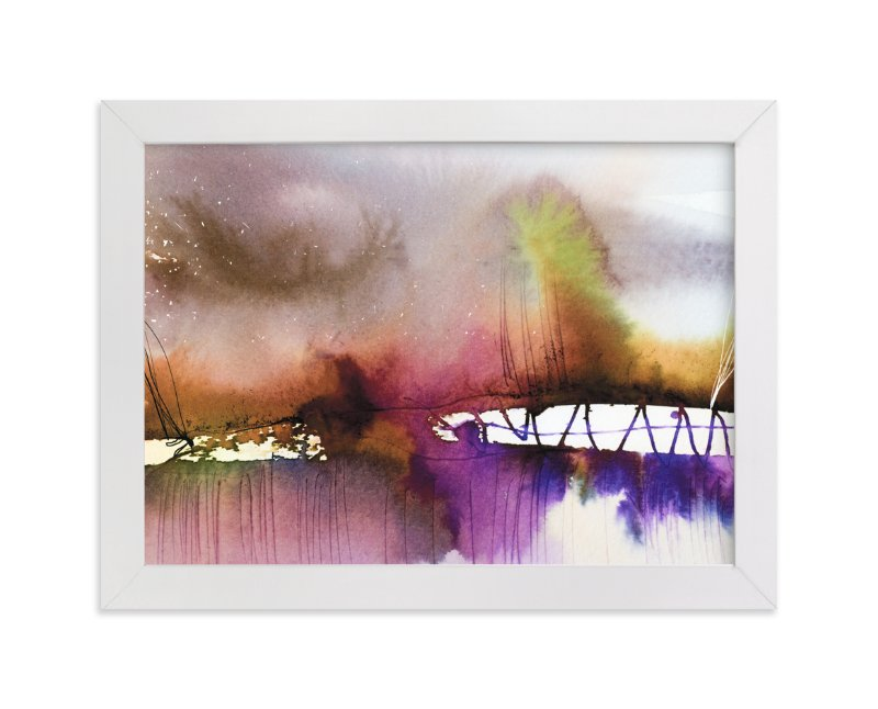 """Landsplashes Series : Bridge"" - Art Print by Marta Spendowska in beautiful frame options and a variety of sizes."