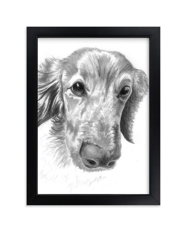 """""""DogFace"""" - Art Print by Alaine Ball in beautiful frame options and a variety of sizes."""