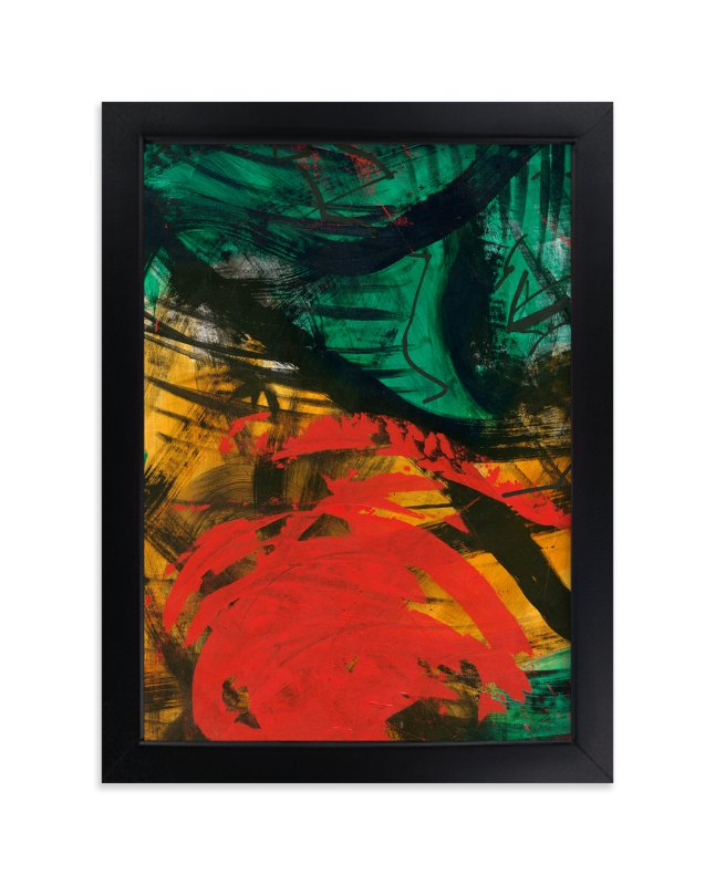 """""""Vibrant Green and Red Series 1"""" - Art Print by Angela Simeone in beautiful frame options and a variety of sizes."""