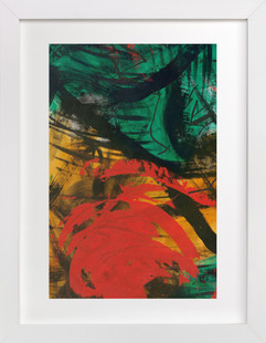 Vibrant Green and Red Series 1  Art Print
