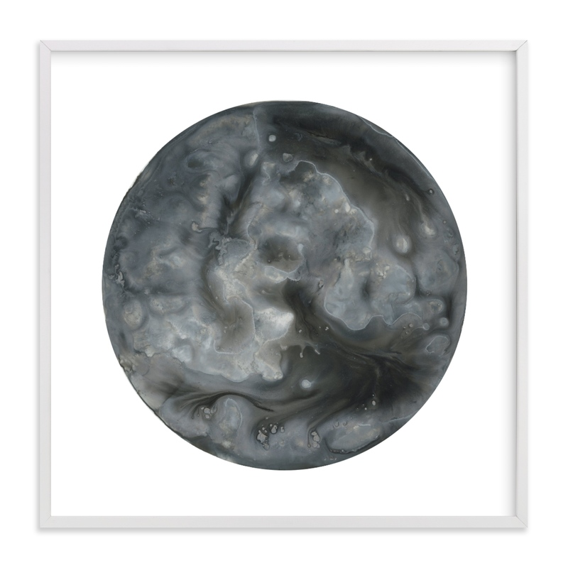 """Frosty Moon"" - Art Print by Emily Magone in beautiful frame options and a variety of sizes."