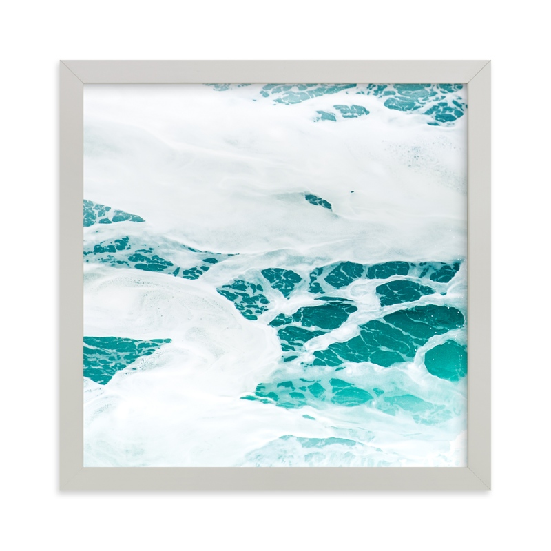"""""""Cerulean Swell III"""" - Art Print by Kamala Nahas in beautiful frame options and a variety of sizes."""