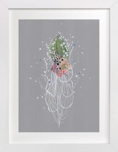 Emerald Hair Cephalopod  Art Print