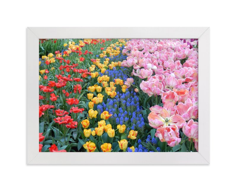 """""""Pretty Garden 2"""" - Art Print by Jan Kessel in beautiful frame options and a variety of sizes."""
