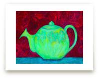 Green Teapot by Charlene Landry