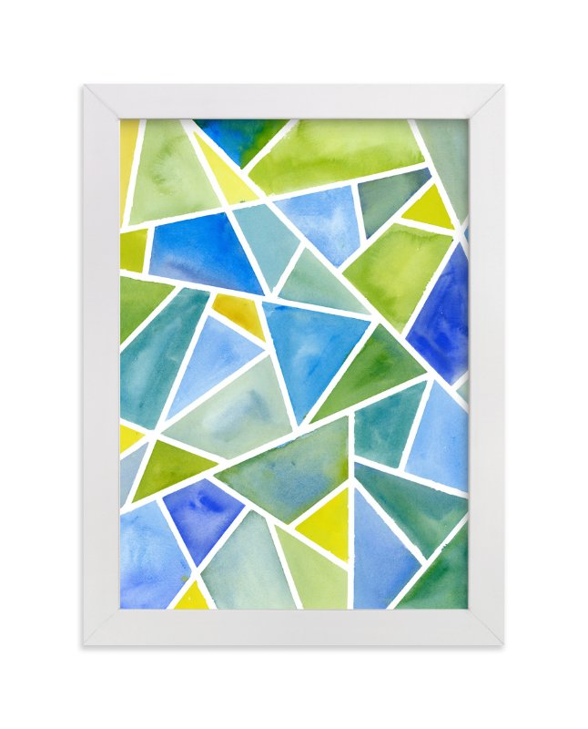 """Fragments: Blue"" - Art Print by sue prue in beautiful frame options and a variety of sizes."