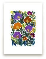 hand painted flowers_5e by aticnomar