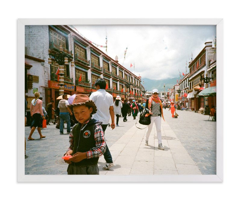 """""""The Tibetan Cowboy"""" - Art Print by Jill Fisher in beautiful frame options and a variety of sizes."""
