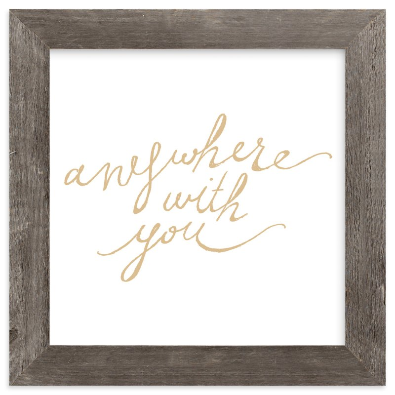 """""""Anywhere with You"""" - Art Print by hey paper moon in beautiful frame options and a variety of sizes."""