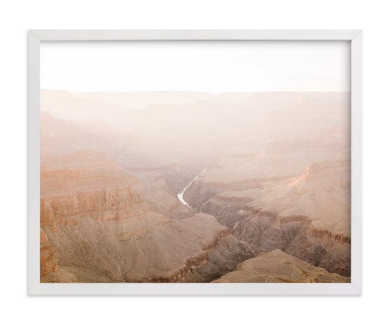 """Grand Canyon River Sunset"" - Art Print by Anna Western in beautiful frame options and a variety of sizes."