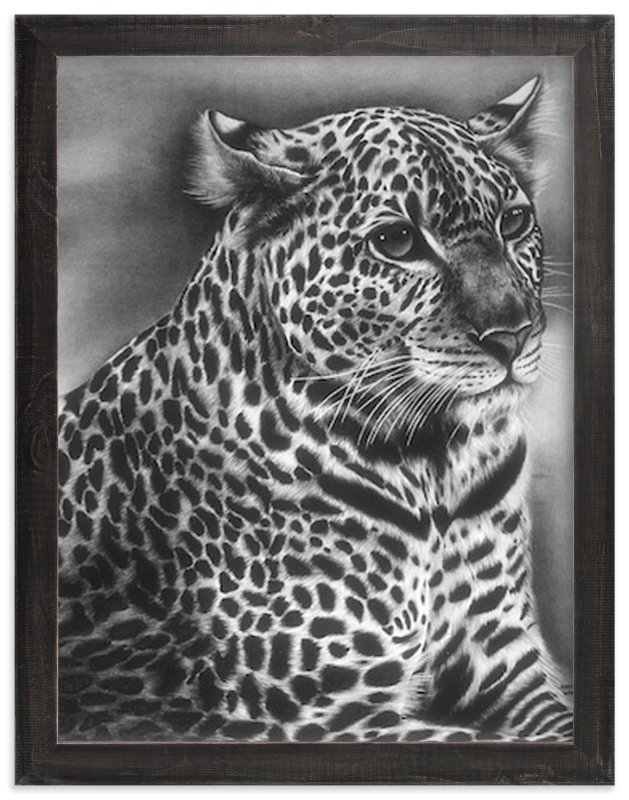"""Furry Leopard"" - Art Print by Jerry Winick in beautiful frame options and a variety of sizes."