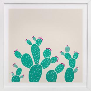 Blooming Prickly Pears  Art Print