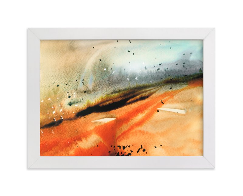 """Landsplashes Series : Fields"" - Art Print by Marta Spendowska in beautiful frame options and a variety of sizes."