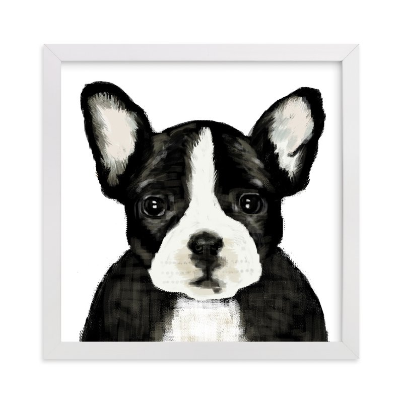 """""""French bulldog"""" - Art Print by iamtanya in beautiful frame options and a variety of sizes."""