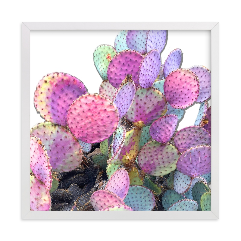 """""""Bright Cactus"""" - Art Print by Michelle Jean in beautiful frame options and a variety of sizes."""