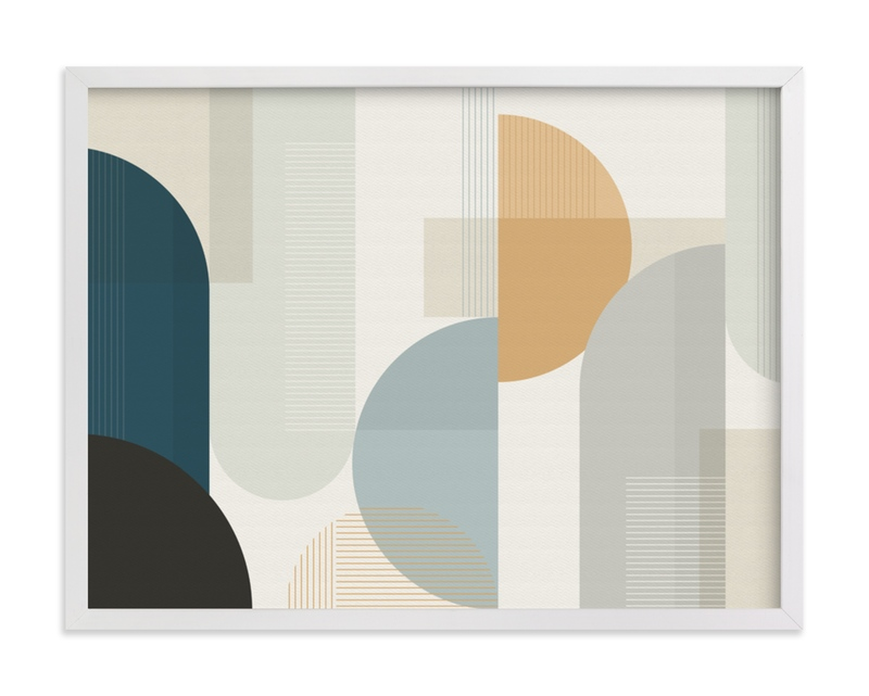 """Shuffle Series Downtown"" - Art Print by Jennifer Morehead in beautiful frame options and a variety of sizes."