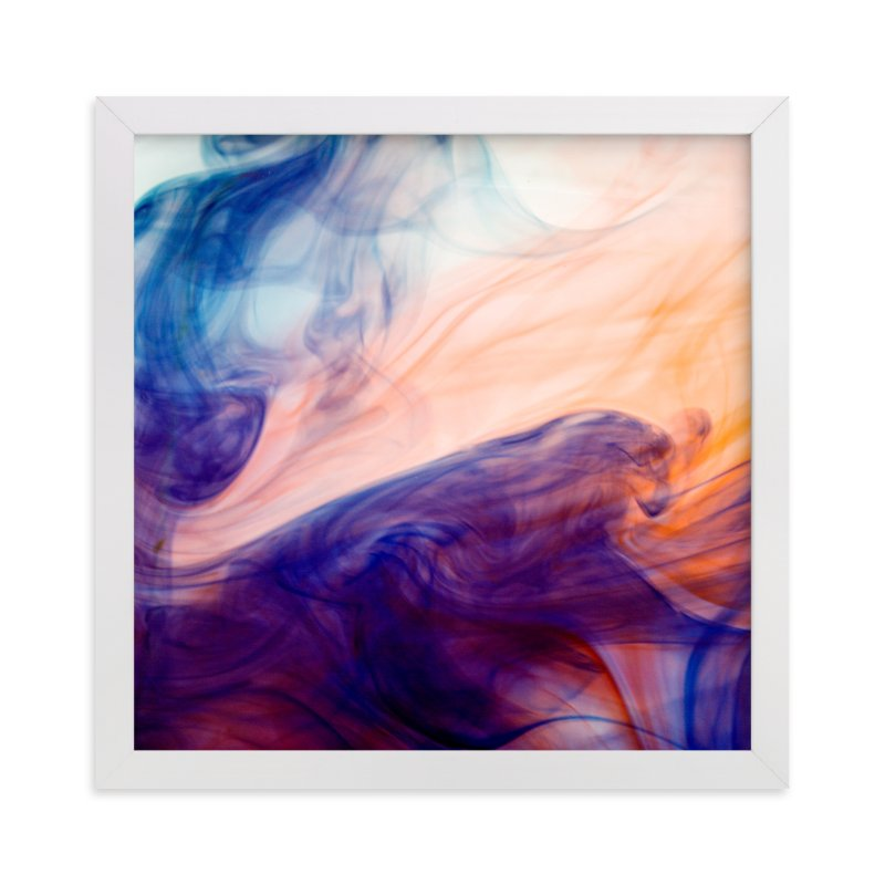 """Blue into Orange"" - Art Print by Alexis Arnold in beautiful frame options and a variety of sizes."