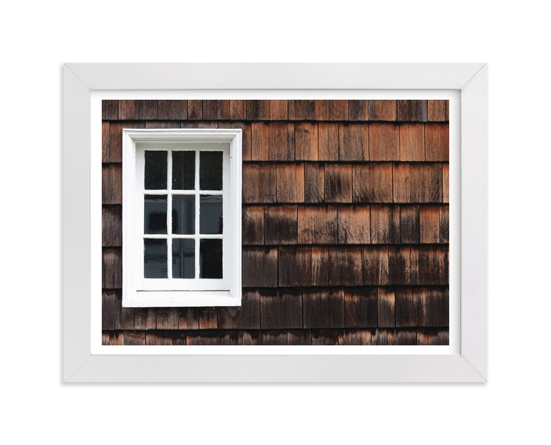 """Shingles & Sills"" - Art Print by That Girl Studio in beautiful frame options and a variety of sizes."