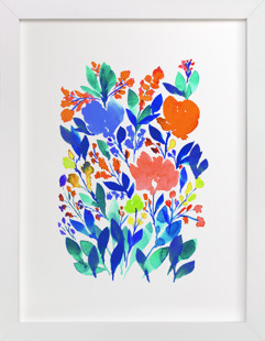 hand painted flowers_5h  Art Print
