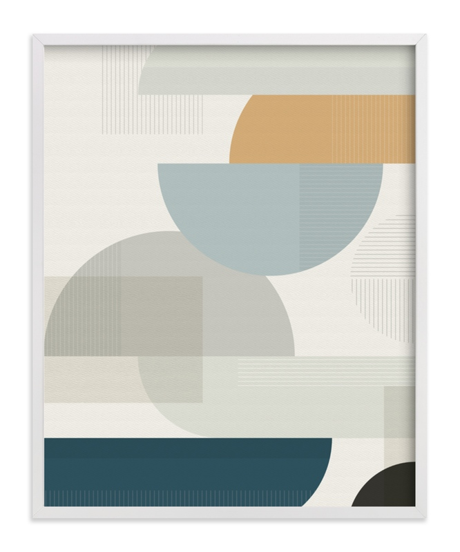 """""""Shuffle Series Uptown"""" - Art Print by Jennifer Morehead in beautiful frame options and a variety of sizes."""